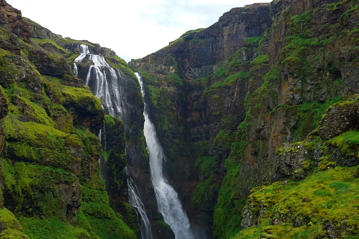 Iceland (I): Hiking the Glymur, the Highest Waterfall in Iceland